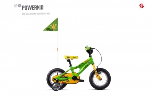 GHOST Powerkid 12 Green/Yellow